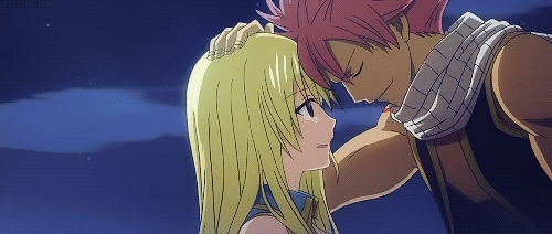 Natsu X Lucy (Fairy Tail) its the same for me..........h eh ehe the thing is i hate lucy.........she thinks she is funny well in truth she is soooo annoying.,...........he h eh e