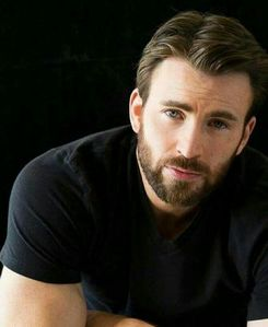 Captain America with a beard.Normally I prefer guys without beards,but on him it looks good
