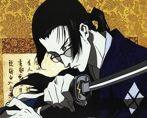 Character that immediately comes to my mind is Jin from Samurai Champloo.