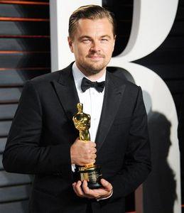 Leonardo at the biggest award show...the Academy Awards,where he finally received an Oscar.So happy he won:)
