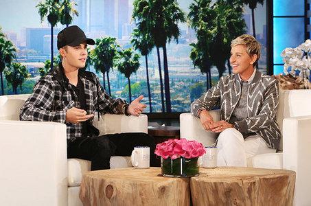 JB talking to Ellen on her talk show:)