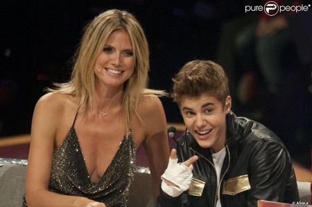 JB on the German based successivo superiore, in alto Model reality mostra with Heidi Klum