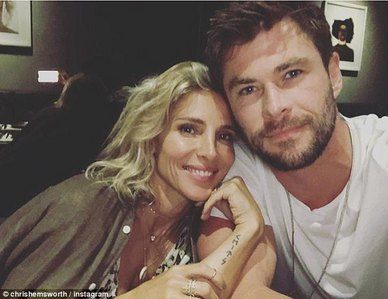 Chris with his beautiful and lucky wife,Elsa