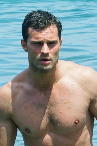 Jamie in the water