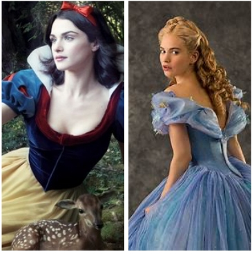 cinderela and Snow White or maybe cinderela and mulan