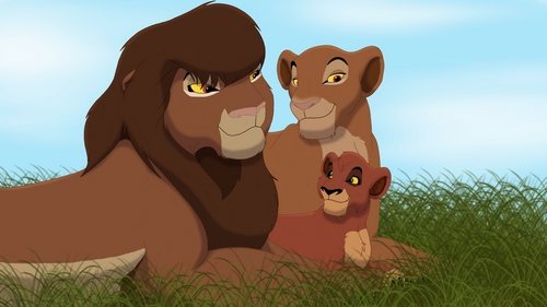 I think that Chumvi and Kula are Kovu's parents not Zira and Scar