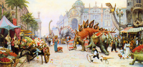 That Dinotopia was real and I would be a lumba-lumba, ikan lumba-lumba back brought onto the island. I could never leave but that would be fine with me!