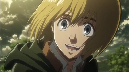Armin from Attack on Titan.