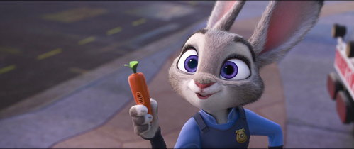 Judy Hopps I know I talk about Nick a lot, but I like Judy. Why? 1: I love her design. The aesthetic is really beautiful IMO. 2: I love her optimistic personality. 3: I love how she owned Nick several times throughout the movie, it was gold. 4: She's a cute widdle bunny. (Sorry, Judy XD) 5: She's purple and grey, my favoriete color scheme.