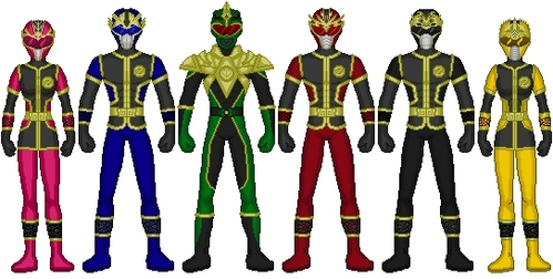 "This is my Team I call it ""BATTLE STE STEEL RANGERS"""