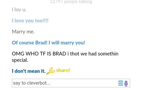 it was shit appernrly bc clever bot cheated on me w brad