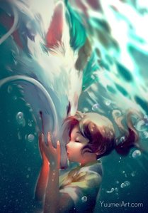 Spirited away as well. Don't know how many times I watched it sejak now <3