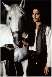 "Could find better pic (and he isn't riding here) but I was too lazy to take screenshots from movie (""The Man Who Cried"") . Actually when I watched it, I was like ""Now that's what prince charming on his white horse looks like"" 😄"
