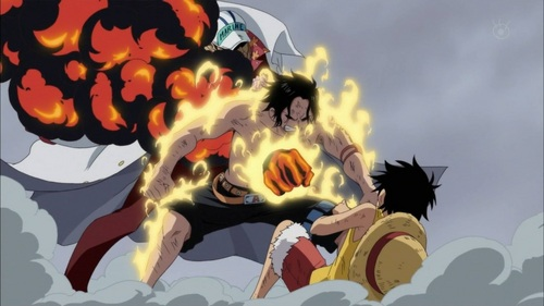 ngọn lửa, chữa cháy Fist Ace's Death (One Piece) the scene where he protects his little brother...!!!!!