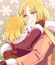 Natassia and Hyoga from ''Saint Seiya''