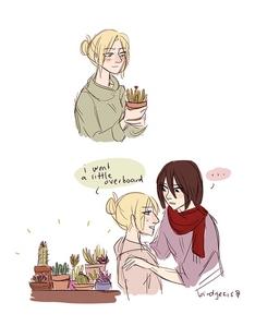 I like both Yuri and Yaoi but have a preference for Yuri. fragola Panic would be my preferito Yuri Anime followed da Citrus. My preferito Yuri pairing is Annie/Mikasa