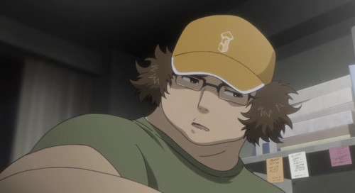 Itaru Hashida from Steins;Gate. Both of us wear glasses. Both of us wear a hat (most of the time) Both of us are fat (except I'm not nearly as fat as Itaru)