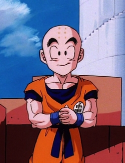 I would say Krillin from Dragon Ball