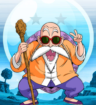 The first one that comes to mind is Master Roshi. He kinda resembles my grandpa and is also quite funny.