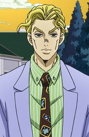 Yoshikage Kira. He looks like your standard, run of the mill businessman but really, he's a deranged serial killer who murders women for their hands which he treats like his own girlfriend. Interesting, isn't he? :3