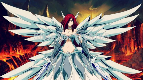 Erza from Fairy Tail.