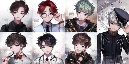 1. Jimin (bias) 2. Jungkook 3. V 4. Suga 5. RM 6. Jin 7. J-hope