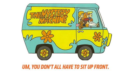 It's a mystery that requires a talking Great Dane and a Flowery van to solve.