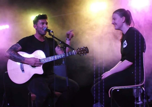 Me on stage with Jake Quickenden in 2015 !! Best night of my life 😍😍