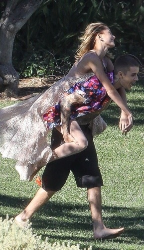 The biebers just after there wedding ansbhxbs