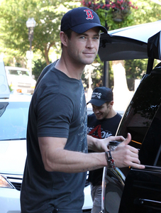 Chris in a Sox cap<3