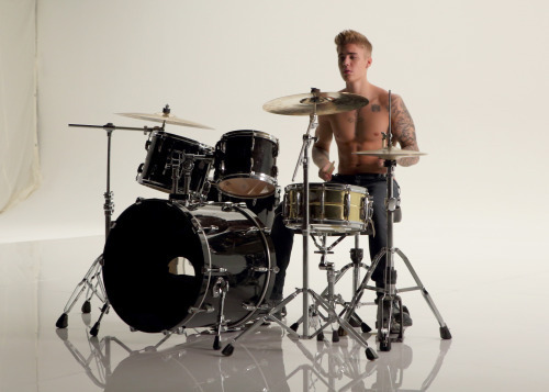 Biebo playing the drums !