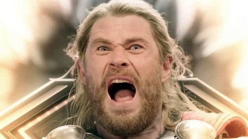 Thor with his God-ly scream<3