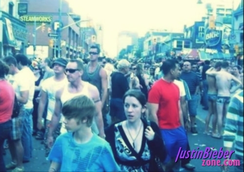 Justin and Pattie at a Pride March !
