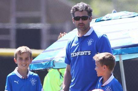 Patrick Dempsey wearing Rangers FC haut, retour au début ! My favourite football team ..