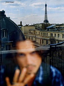 To continue about Paris, here's his reflection with Eiffel tower and other Paris buildings behind the window (that counts, doesn't it?) 💙