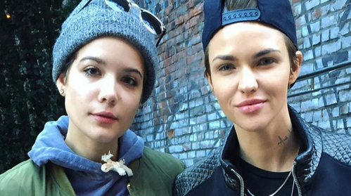 Ruby rose and Halsey !