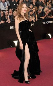Angelina's famous Oscar dress in 2012 with that big side slit