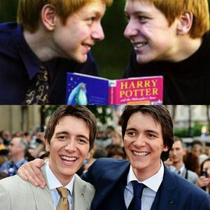 Oliver and James Phelps,from the Harry Potter films.