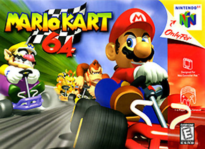 I remember playing Mario Kart 64 as my first video game.