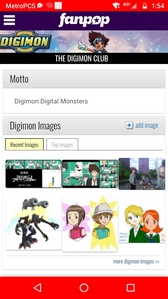 Cause of Digimon i found Fanpop. Digimon fan Club. I was browsing though Google. And stumbled apon Fanpop. This website years later don't seem as active as Facebook. ou other Soscial Media websites.