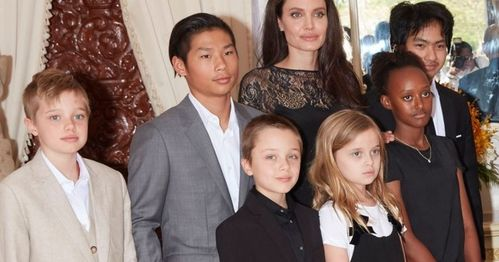Angie and the Jolie Pitt bunch