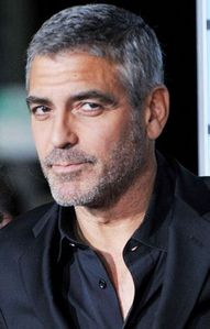 George Clooney with salt and pepper grey hair