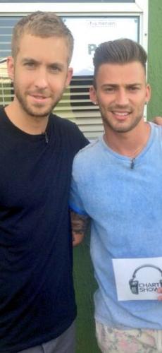 Calvin Harris and Jake Quickenden