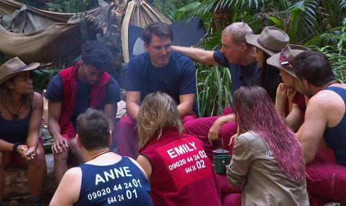 John being comforted in the jungle !