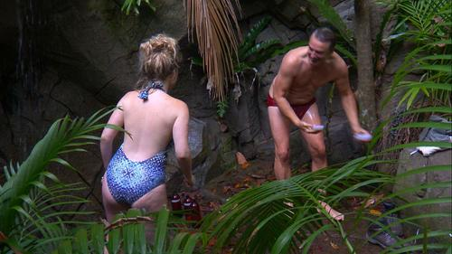 Emily & John having a funny moment in the jungle !