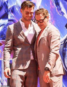Chris with RDJ