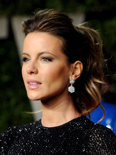 the lovely Kate Beckinsale with a ponytail