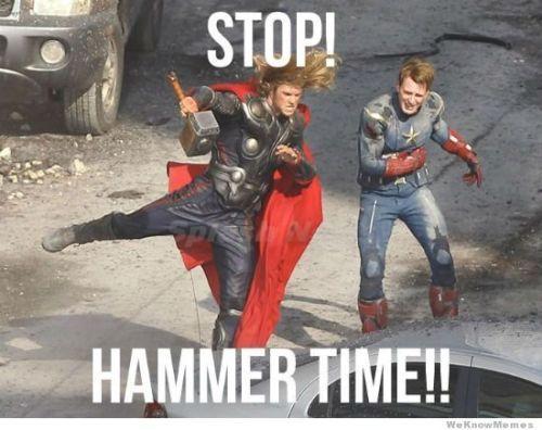 it's Avenger hammer time