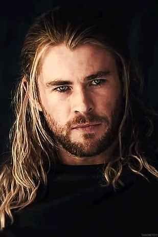 my God with long hair