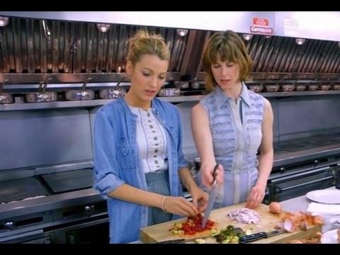 Blake showing her cooking skills